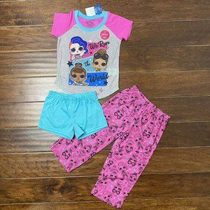 LOL Surprise Doll Pajamas Set Size 3 Piece